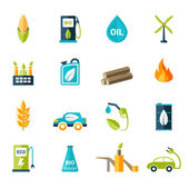 Bio Fuel Icons Set — Stok Vektör