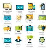Web Development Icons Set — Stock Vector
