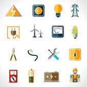 Electricity Icons Set — Stock Vector