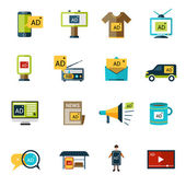 Advertising Icons Set — Stock Vector