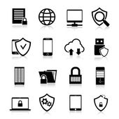 Data Protection Icons — Stock Vector