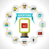 Advertising Billboard Concept — Stock Vector