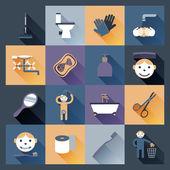 Hygiene Icons Flat — Stock Vector