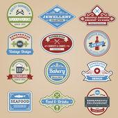 Retro Emblems Colored — Wektor stockowy