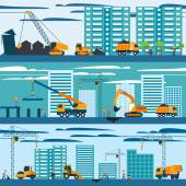 Construction And Building Concept — Stock Vector