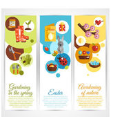Spring Banners Vertical — Stock Vector