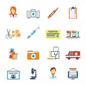 Doctor Icon Flat — Stock Vector