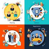 Business Meeting Set — Stock Vector