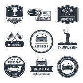 Auto Sport Label — Stock Vector