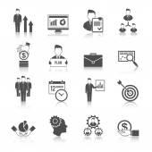 Management Icon Set — Stock Vector