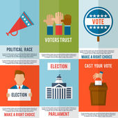 Election Poster Set — Stock Vector