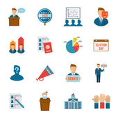 Election Icon Flat — Stock Vector