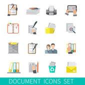 Document Icon Flat — Stockvector
