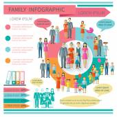 Family Infographics Set — Stockvektor
