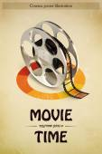 Cinema Poster Illustration — Stock Vector