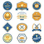 Cupcake Bakery Labels — Stock Vector