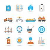 Gas Icons Set — Vector de stock