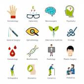 Medical Specialties Set — Stock Vector