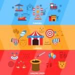 Amusement Park Banner Set — Stock Vector #63750169