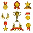 Award icons set colored — Stock Vector #63750175