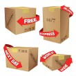 Boxes With Delivery Symbols — Stock Vector #63750183