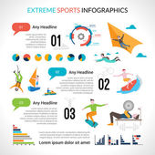 Extreme Sports Infographics — Stock Vector