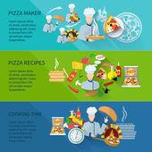 Pizza Maker Banner — Stock Vector