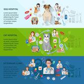 Veterinary Banner Set — Stock Vector