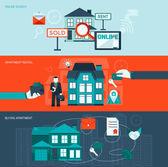 Real Estate Banner Set — Stock Vector