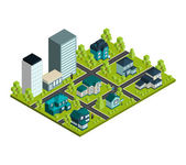 Real Estate Isometric — Stock Vector