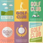 Conjunto de golfe Poster — Vetor de Stock