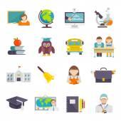 School Icon Flat — Stock Vector