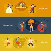 Dance Banner Set — Stock Vector
