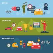 Auto Sport Banner — Stock Vector