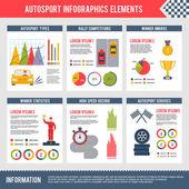Auto Sport Infographics — Stock Vector