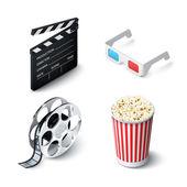 Juego realista de cine — Vector de stock