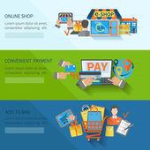 Shopping E-commerce Banners — Stock Vector