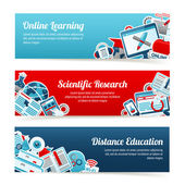 Online Education Banners — Stock Vector