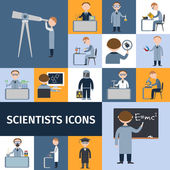 Scientists Icon Set — Stock Vector