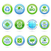 Ecology Labels Set — Stock Vector
