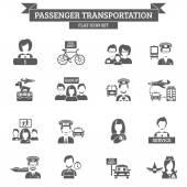 Passenger Transportation Icon — Stock Vector