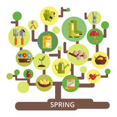 Spring Season Concept — Stock Vector
