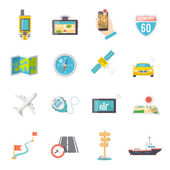 Navigation icons flat — Stock Vector