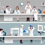 Постер, плакат: Scientists In Lab Concept