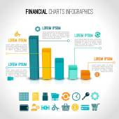 Finance charts infographic — Stock Vector