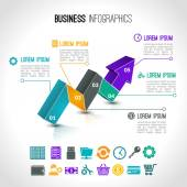 Business charts infographic — Stock Vector