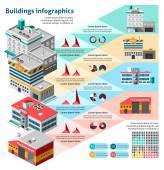 Budynków zestaw plansza — Wektor stockowy