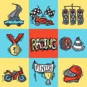 Racing Design Concept — Stock Vector
