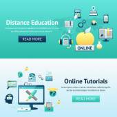 Online Education Design Concept — Stock Vector