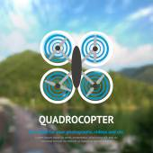 Drone Quadrocopter Background — Stock Vector